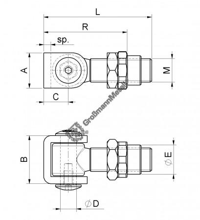 Torband mit Einschweißmutter M20