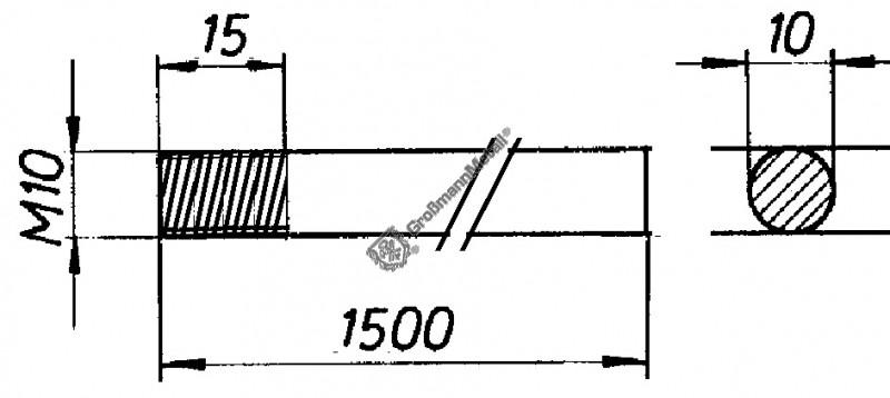 10 Stk runde Form STABILIT Fl/ügelmuttern M4 Stahl verzinkt 5552082